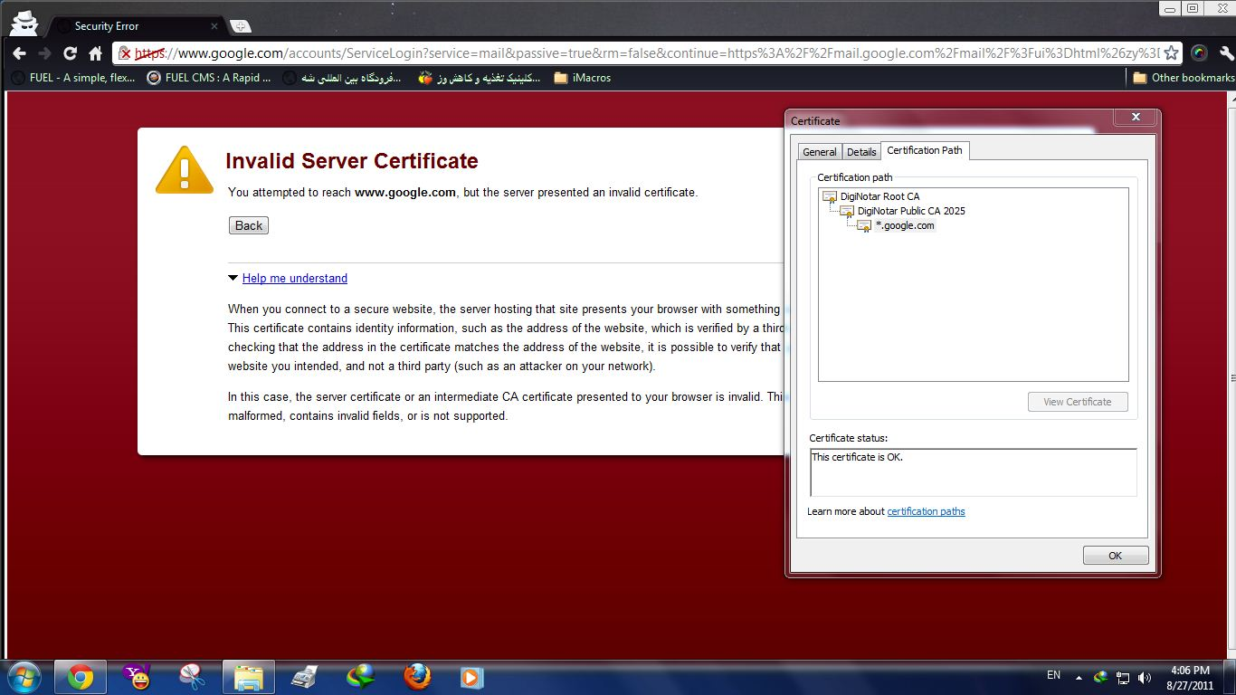 Certificate transparency monitoring a team systems gmail cert warning 1betcityfo Choice Image