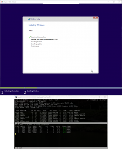 Windows 10 installing on a FreeBSD 11.0 Bhyve VM